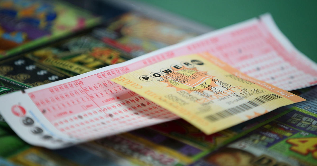 Powerball tickets. (Credit: CBS News)
