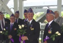 Purple Heart recipients. (WINK News photo)