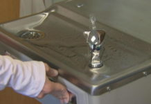 School water fountain. (Credit: CBS News)