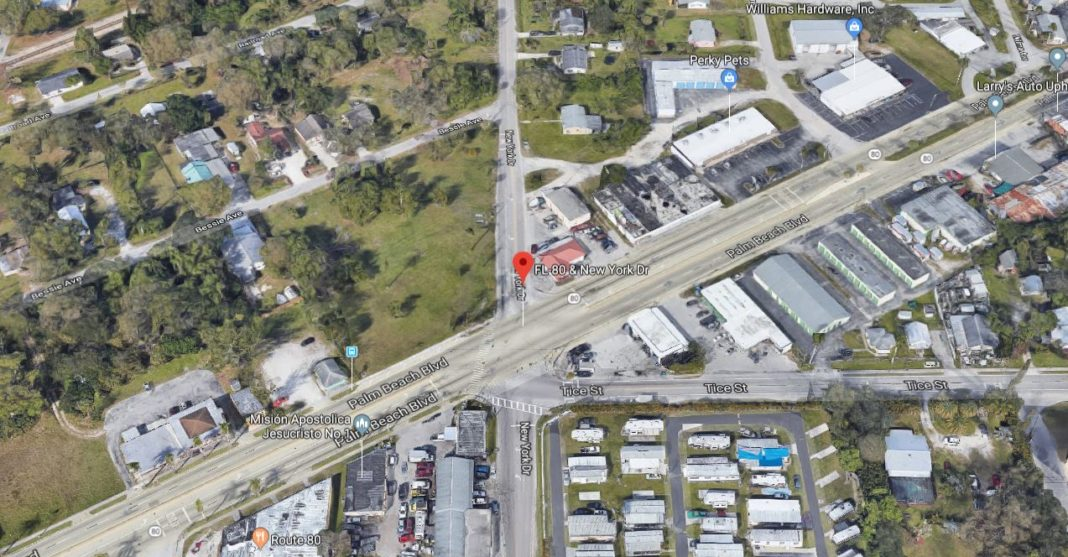 The site of the crash, leaving a pedestrian in critical condition. (Google Maps photo)