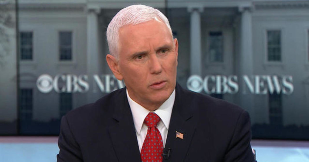Vice President Mike Pence. (Credit: CBS News)