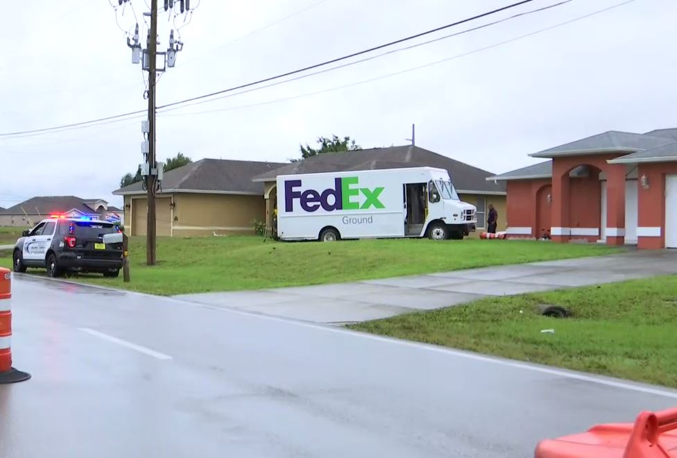 FedEx truck crashes into house in Cape Coral