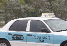 Bluebird taxicab. (Credit: WINK News)