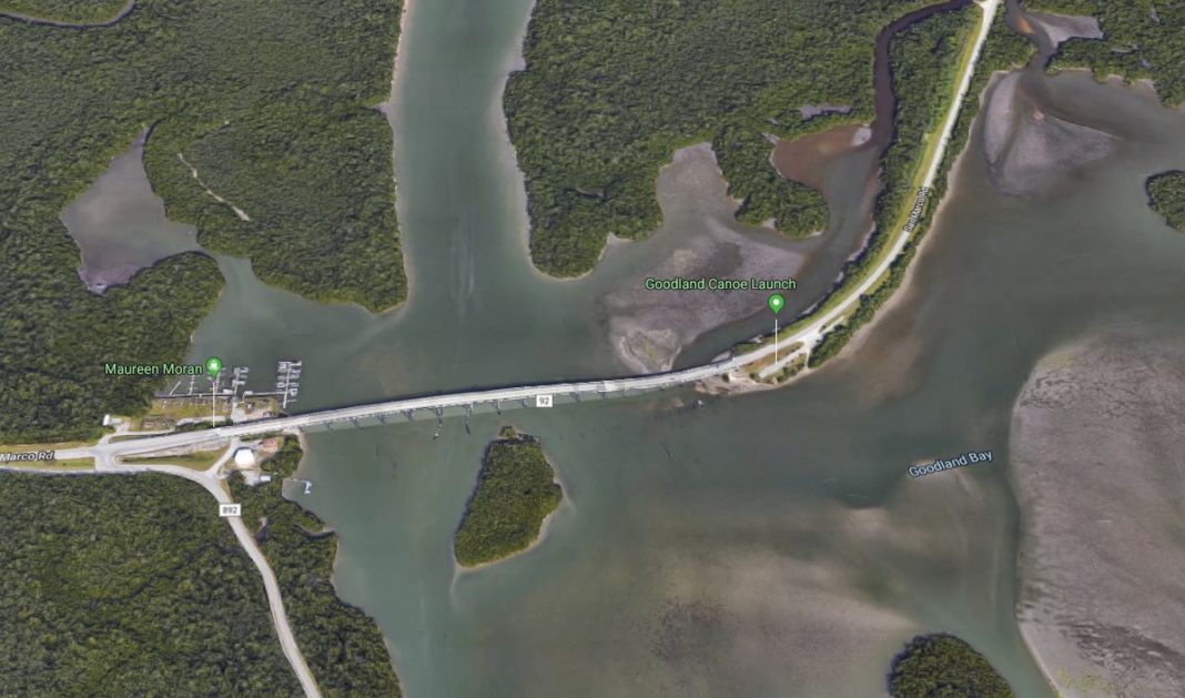 Bridge facing closure with heavy police presence. (Credit: Google Maps)