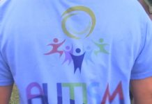 Brittany Reimer wears a shirt in observance of World Autism Awareness Day. (Credit: WINK News)