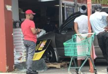 Car slams into Fowler Meat, Fish & Produce in Fort Myers. (Credit: Maria Palmeri/WINK News)