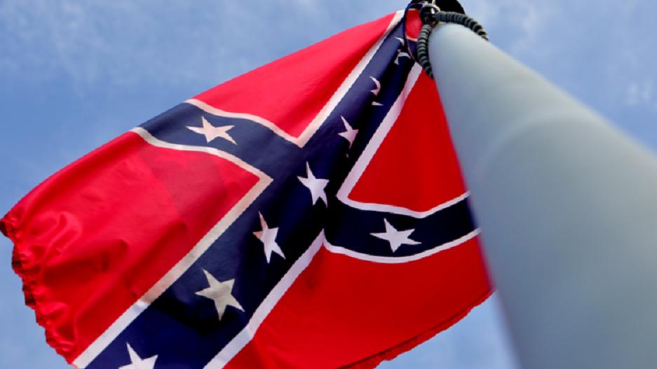 Confederate flag. (Credit: CBS)