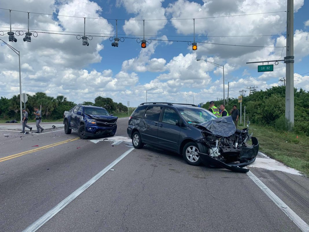 Crash at SR 82 and SR 29. (Credit: Immokalee Fire Control District)