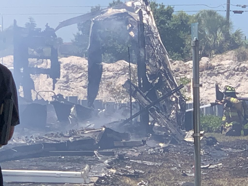 Damage from the fire. (Credit :WINK News)
