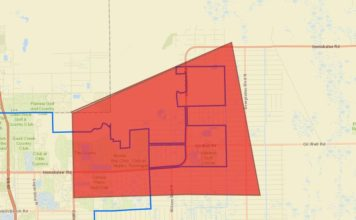 Emergency shut down precautionary boil water order area. (Credit: Collier County)