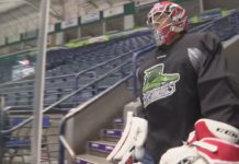 Everblades goalie. (Credit: WINK News)
