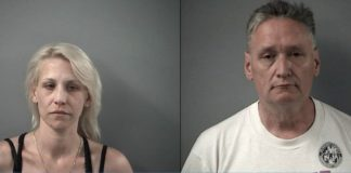 Mugshot of Joann Cunningham and Andrew Freund Sr. (Credit: Crystal Lake Police Department )