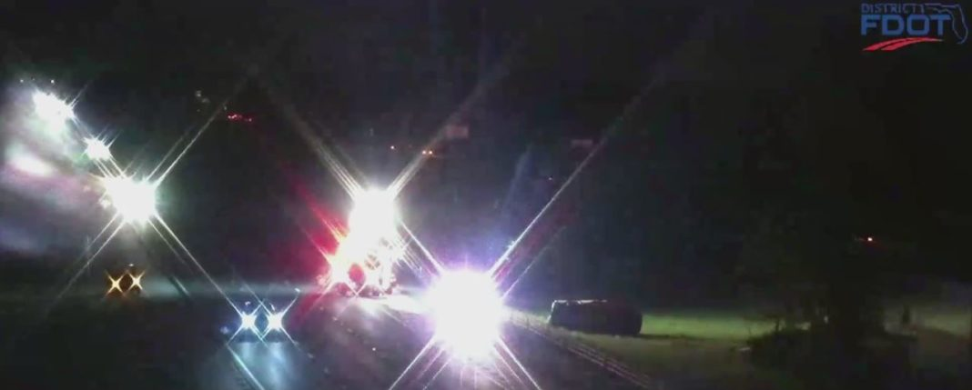 Scene of the crash. (Credit: FDOT)