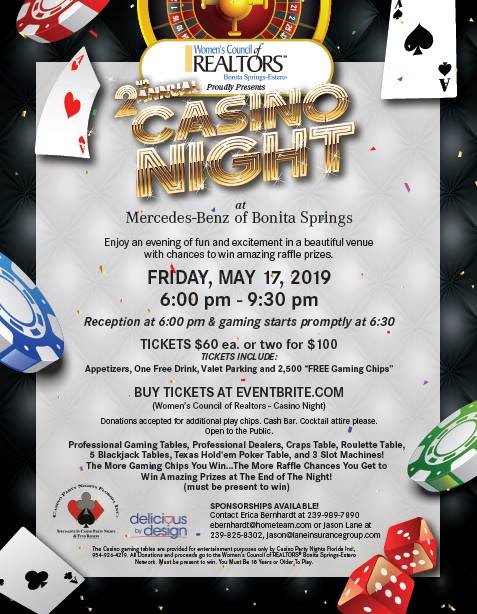WCR 2ND ANNUAL CASINO NIGHT PARTY