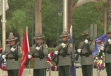 Bonita Springs Memorial Day Parade 21 gun salute. (Credit: WINK News)