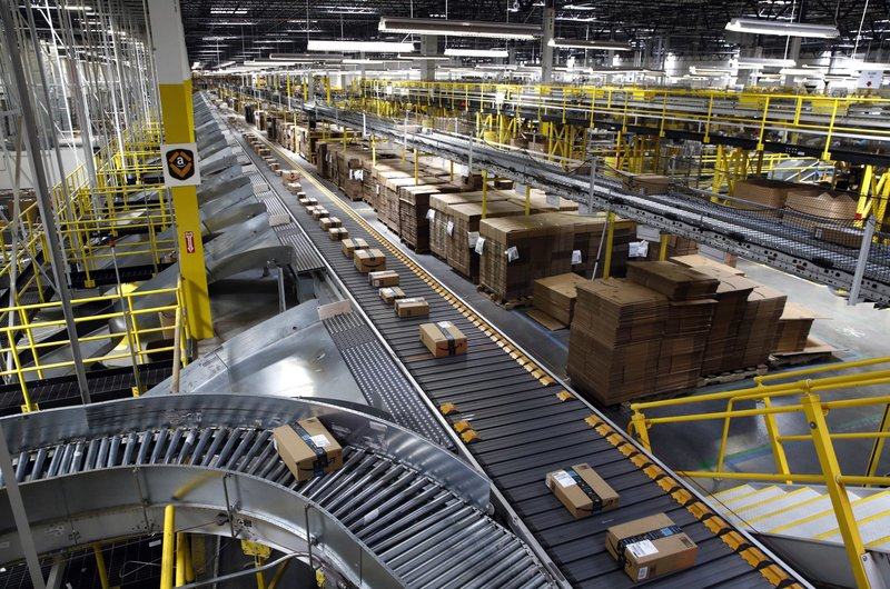 Amazon facility. (Credit: AP)