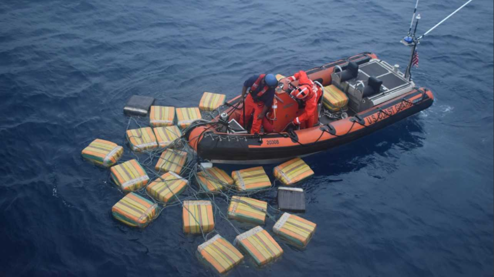 Coast Guard stops packages from entering the country. (Credit: CBS)