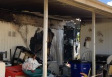 Damages from the fire in North Fort Myers. (Credit: WINK News)