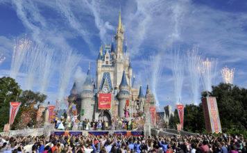 Fireworks light the sky over Cinderella Castle in Disney World. (Credit: CBS News)