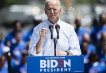 Joe Biden kicks off 2020 campaign rally in Philadelphia with calls for unity, slams Trump . (Credit: CBS News)