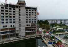 Luminary Hotel construction contributes to decreasing revenues, restaurant owner says. (Credit: WINK News)
