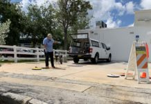 Petroleum inspect at an Orion Station in Cape Coral Tuesday. (Credit: WINK News)