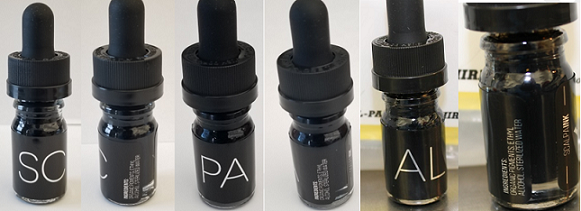 Scalpaink SC, Scalpaink PA, and Scalpaink AL Basic Black Tattoo Inks (manufactured by Scalp Aesthetics). (Credit: FDA)