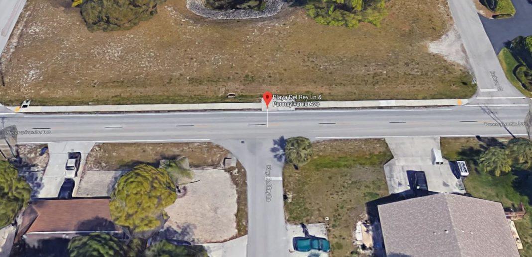 Site of the crash in Bonita Springs. (Credit: Google Maps)