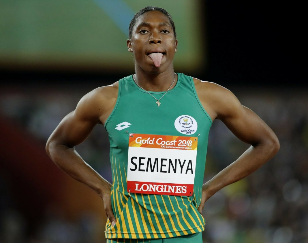 FILE - In this Friday, April 13, 2018 file photo South Africa's Caster Semenya waits to compete in the woman's 800m final at Carrara Stadium during the 2018 Commonwealth Games on the Gold Coast, Australia. Caster Semenya lost her appeal Wednesday May 1, 2019 against rules designed to decrease naturally high testosterone levels in some female runners. (AP Photo/Mark Schiefelbein, File)