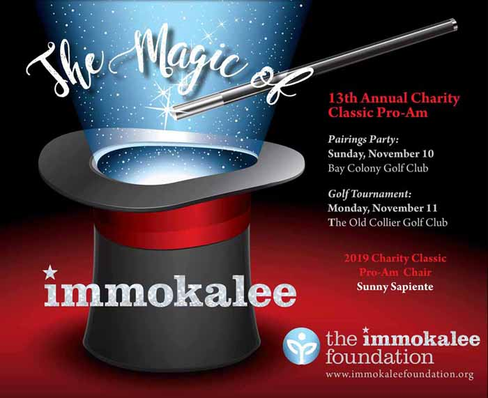 Calendar Announcement/Save the Date: The Immokalee Foundation's 2019 Charity Classic Pro-Am and Pairings Party