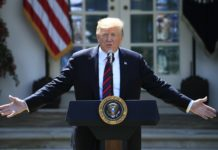 President Donald Trump speaks about modernizing the immigration system in the Rose Garden of the White House, Thursday, May 16, 2019, in Washington. (AP Photo/Manuel Balce Ceneta)
