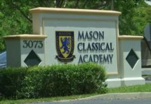 An entrance to Mason Classical Academy. (Credit: WINK News)