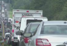Cars evacuating before Hurricane Irma makes landfall. (Credit: WINK News)