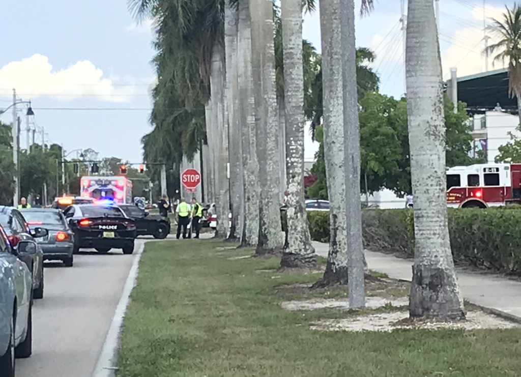 Crash causing delays in Fort Myers. (Credit: WINK News)