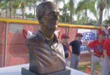 Donny Overholser statue. (Credit: WINK News)