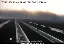 FDOT image from the eastern part of the Alligator Alley. It is 8 miles west of the Broward County toll booth. (Credit: FDOT)