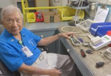 "Ponciano ""Poncho"" Mauricio is a 101-year-old Cape Coral man who volunteers his time to fix equipment at The Cape Coral Hospital for 29, almost 30 years now. (Credit: WINK News)"