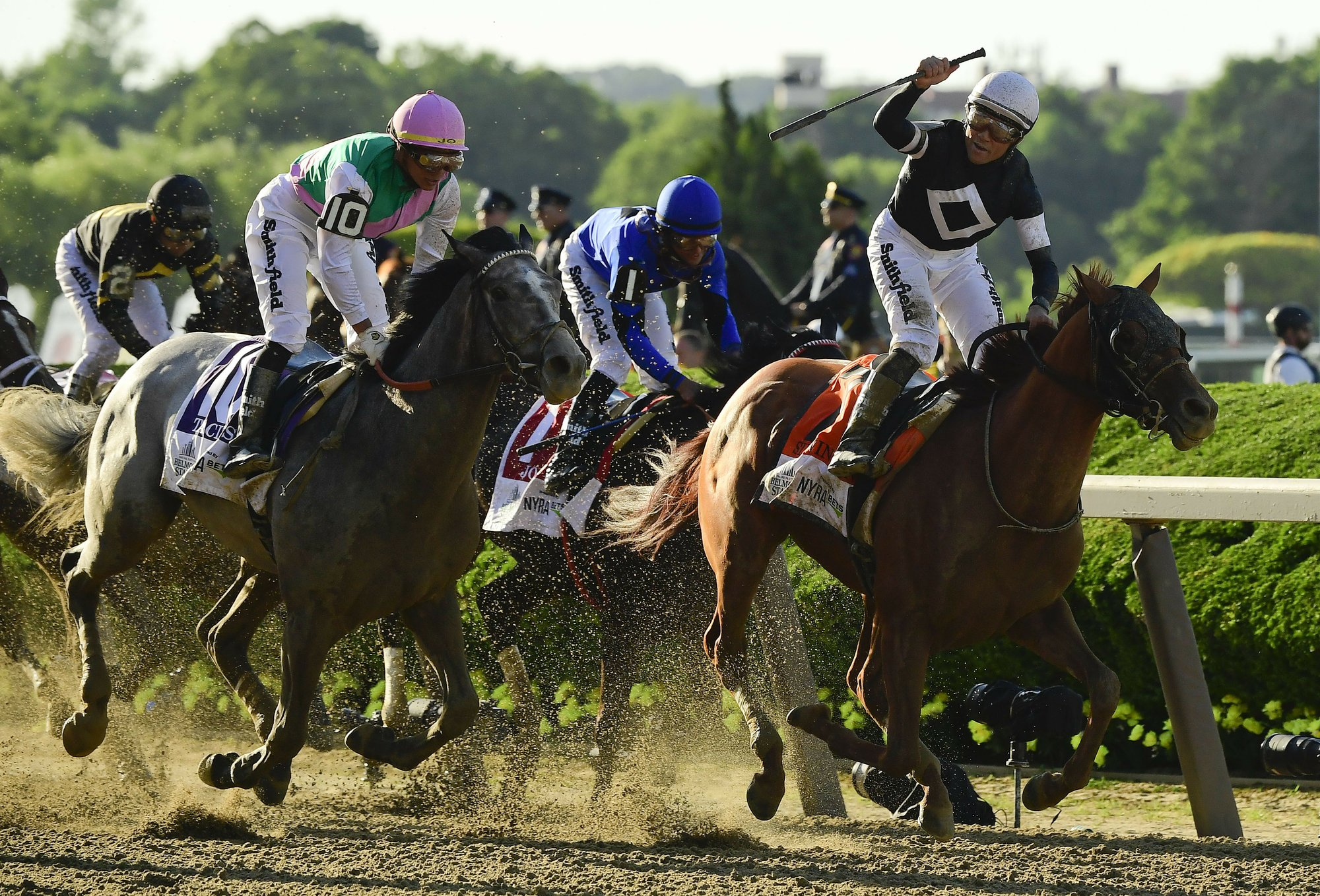 Belmont Stakes 2019: Sir Winston crosses finish line first