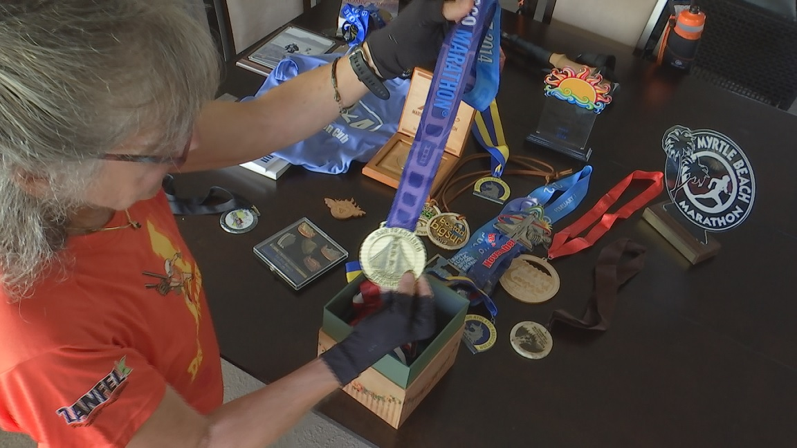 Amy Yanni with her medals. (Credit: WINK News)