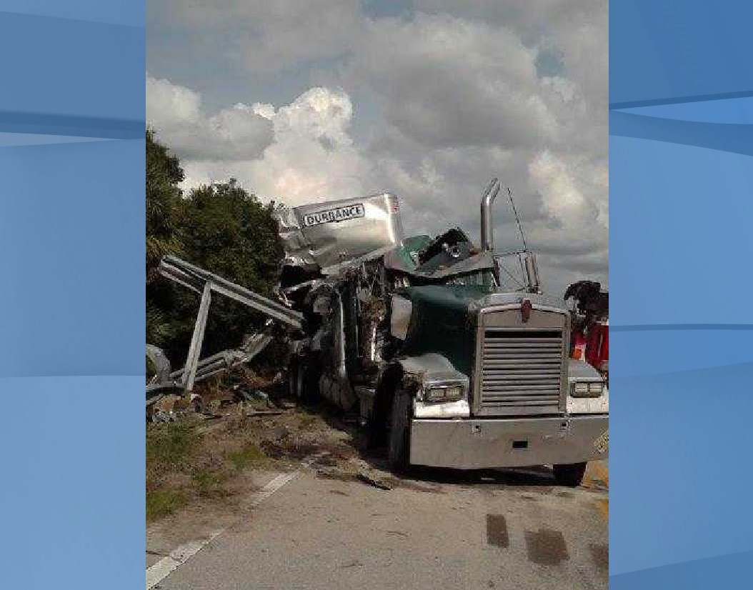 Commercial motor vehicle crash. (Credit: Florida Highway Patrol)