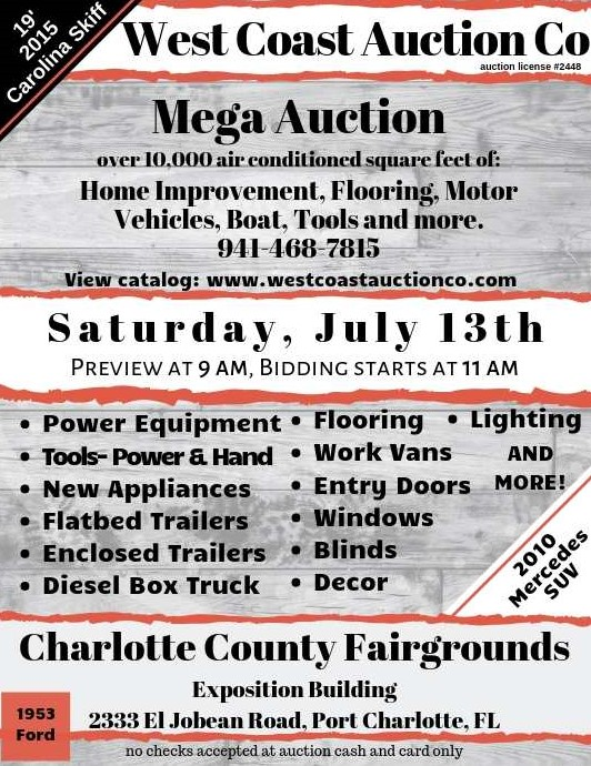 Mega Liquidation Auction - Appliances, Vehicles, Boat, Home Improvement & More