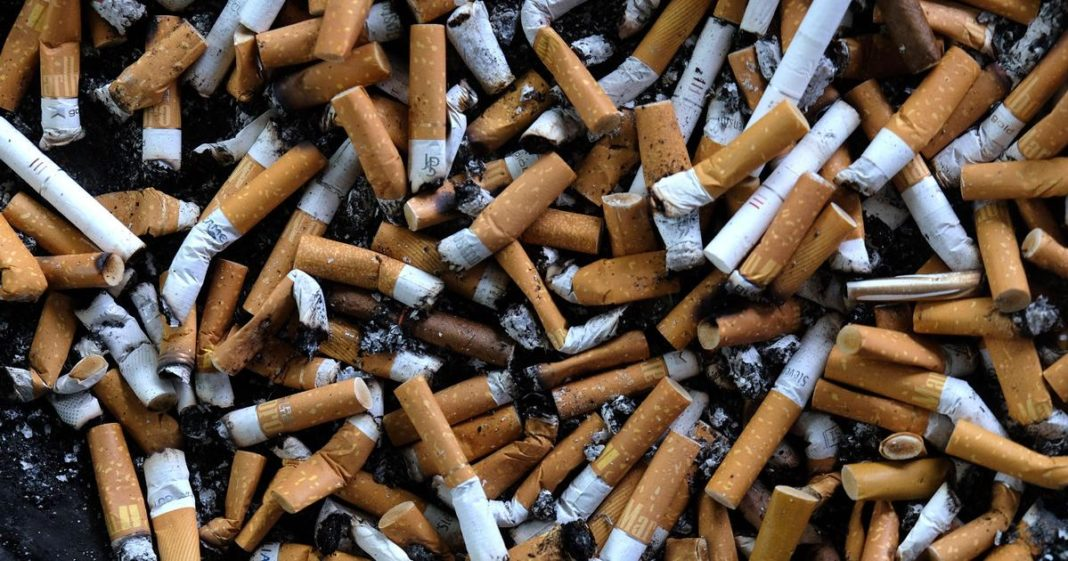 Experts say cigarette butts – not plastic straws – are largest human-caused pollutant. (Credit: CBS News)