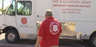 Gary Heath as he walks to the Salvation Army Canteen. (Credit: WINK News)