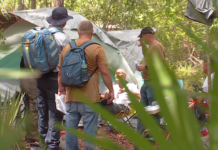 Homeless veteran living in the woods. (Credit: WINK News)