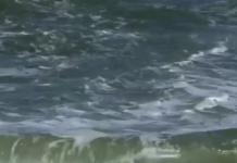 Rip current on Florida shore. (Credit: NOAA)