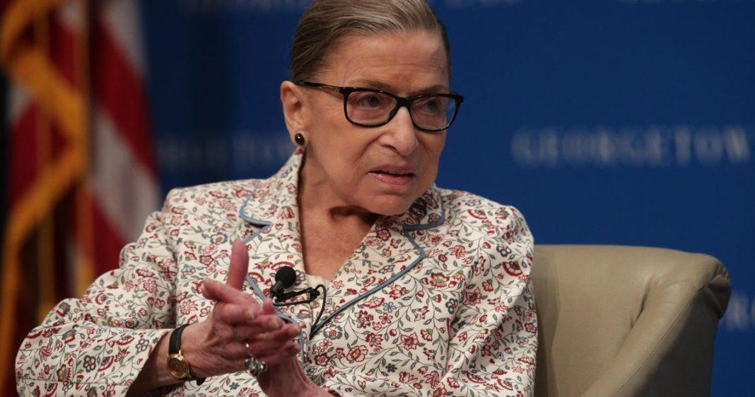 Ruth Bader Ginsburg. (Credit: CBS News)