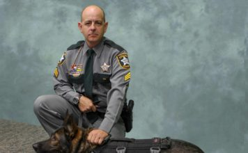 Sgt. William Gifford and K9 Titan. (Credit: Collier County Sheriff's Office)