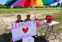 Two Cape Coral kids put up a lemon stand to help get their dad to Duke. (Credit: WINK News)