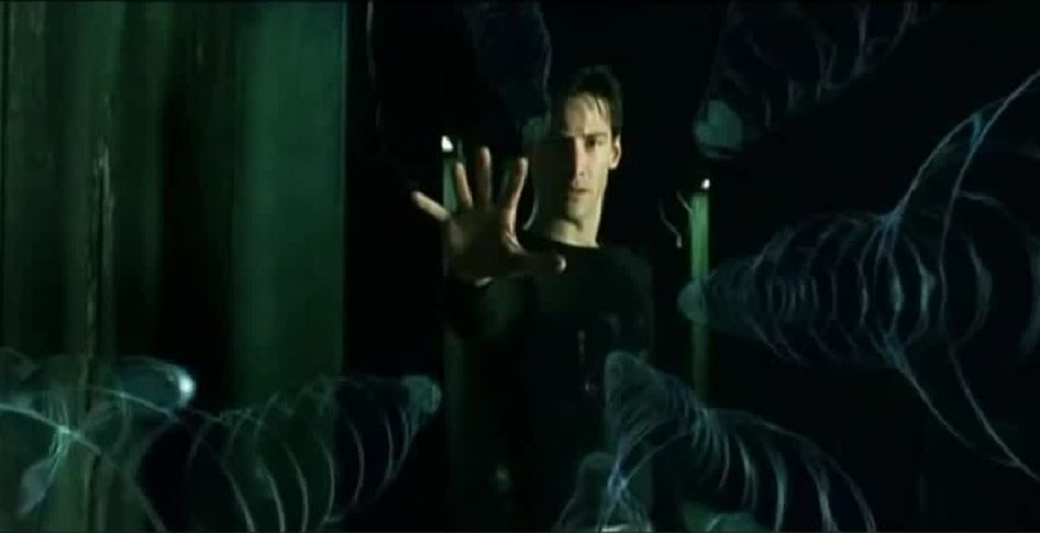 """Keanu Reeves and Carrie-Anne Moss are both set to reprise their roles as Neo and Trinity in """"Matrix 4."""" (Credit: CBS LA)"""