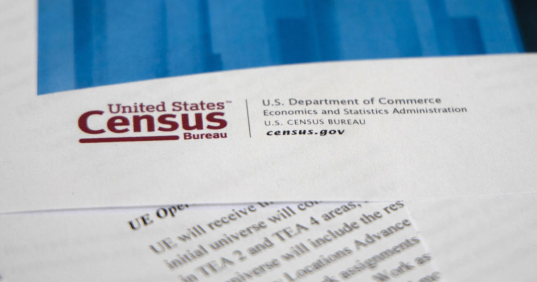 The 2020 Census Operational Plan compiled by the U.S. Census Bureau, part of the Department of Commerce. (AP Photo/Jon Elswick)